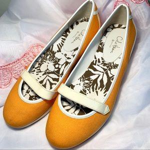 Cole Haan Nike Air Orange Flats Women Size 8 B
